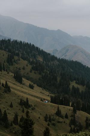 Mountain and cloudy sky landscape. Reklamní fotografie