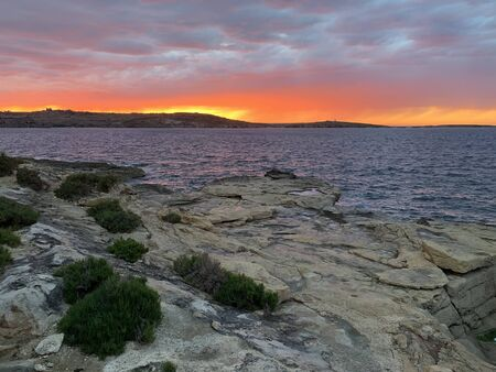 Colorfull Sunset in Saint Pauls Bay, Malta