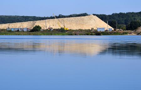 sandpit: Extraction of sand in sandpit.