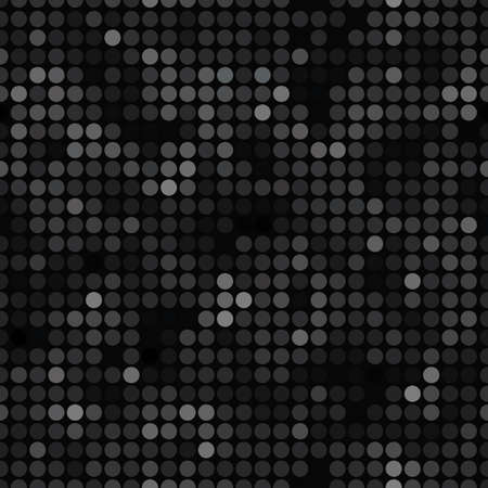 Abstract pattern with dots. Black texture. Seamless vector background. 矢量图像