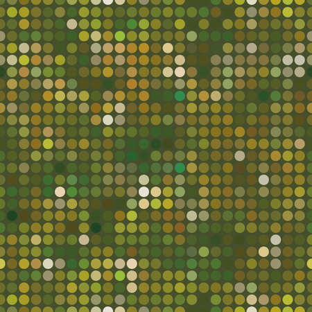 Abstract pattern with dots. Green texture. Seamless vector background. 矢量图像