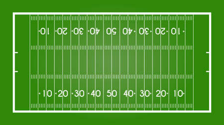 American football field. Rugby. Vector illustration.