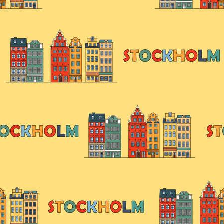 Stockholm seamless pattern. Vector illustration Illustration