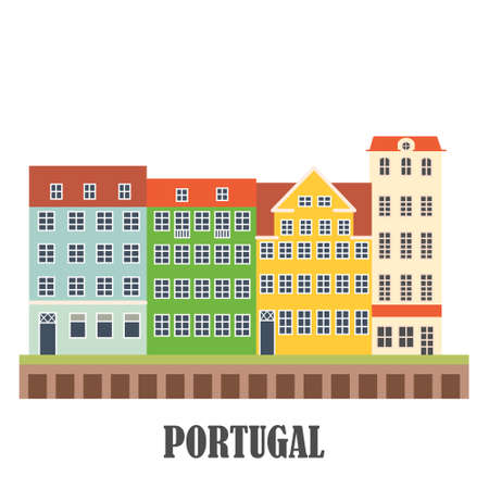 Portugal landmarks set. Old Porto