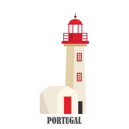 Portugal lighthouse Cabo de roca Standard-Bild - 128778557
