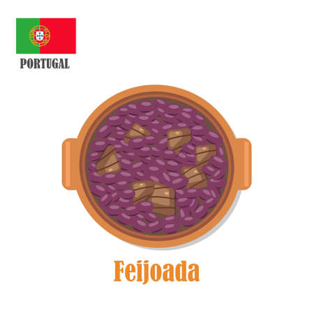 Feijoada. National portugal dish Vetores