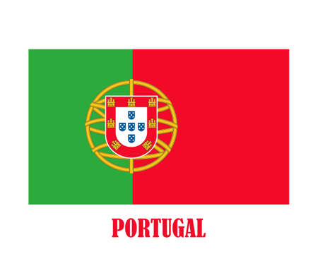 Simple flag of Portugal Stockfoto - 128778581