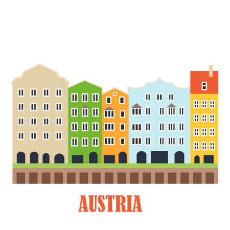 Innsbruck Austria landmark Иллюстрация
