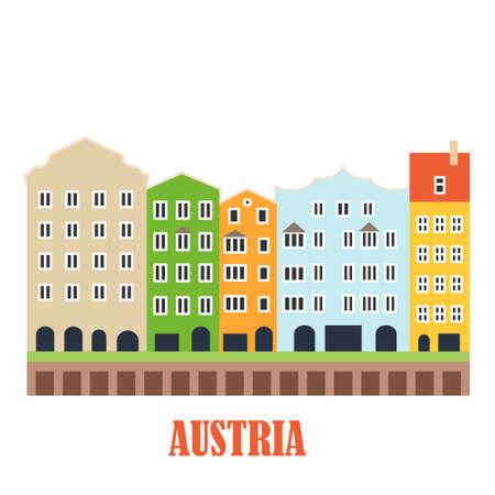 Innsbruck Austria landmark Illustration