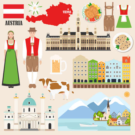 Austria symbols collection