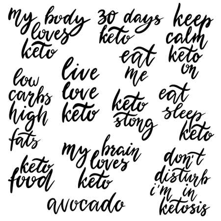Keto lettering inscription phrases