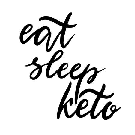 Keto lettering inscription phrase