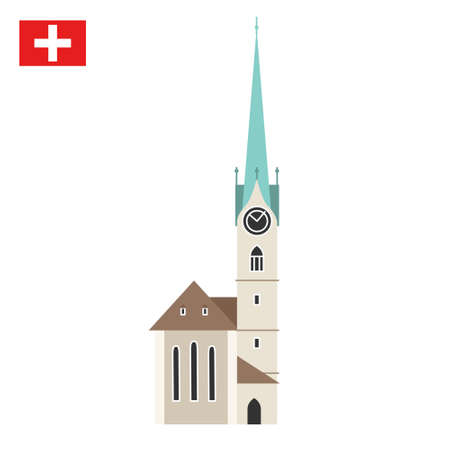 Church Fraumunster in Zurich, Switzerland