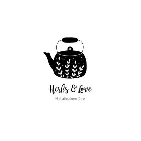 Hand drawn tea  in doodle style. Vector illustration Illusztráció