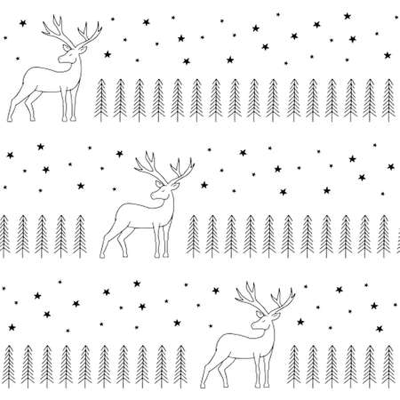 Simple classic xmas seamless pattern