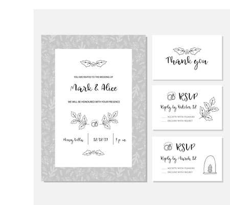Christmas wedding invitation card
