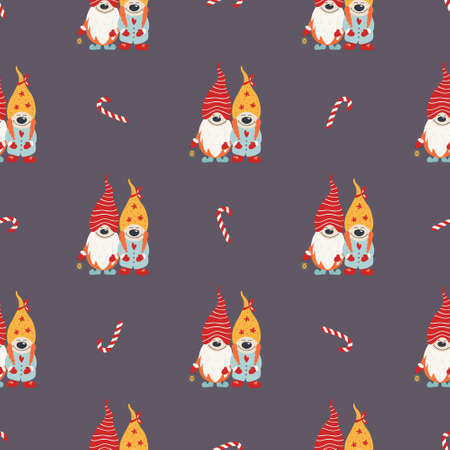 Christmas seamless pattern for background Illusztráció