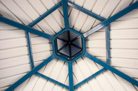 gazebo: Ceiling of the gazebo Stock Photo