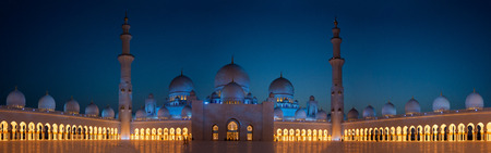 sheikh zayed mosque panoramic view