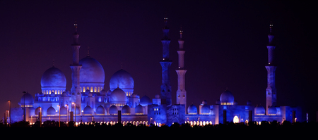 sheikh zayed mosque in Abu Dhabi, UAE