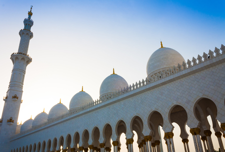 mosque in in Abu Dhabi in United Arab Emirates