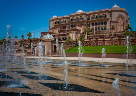 Emirates palace in Abu Dhabi in United Arab Emirates