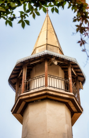 Minaret of a mosque in Ancient City of Damascus (Syrian Arab Republic) Stock Photo