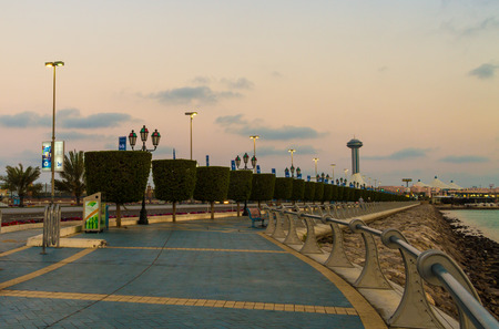abu dhabi corniche Stock Photo