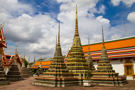 Wat Pho temple in thailand Bangkok Stock Photo