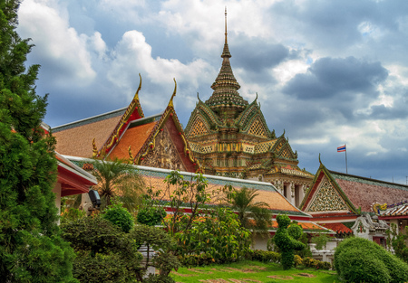 Bangkok temple in Thailand Stock Photo