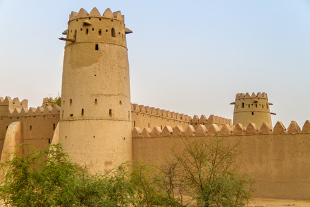 Al Jahili fort in Al Ain in United Arab Emirates Stock Photo