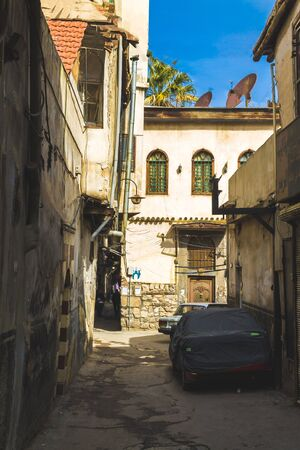 Old syrian houses in ancient city of Damascus (Syrian Arab Republic) in 15/02/ 2020