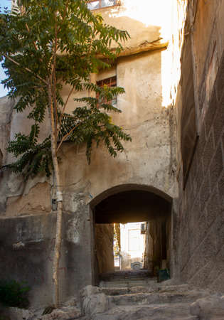 Lane stones in Ancient City of Damascus (Syrian Arab Republic) before the war