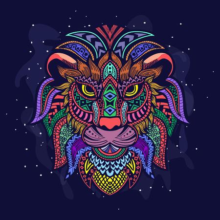 decorative lion art Vektorové ilustrace