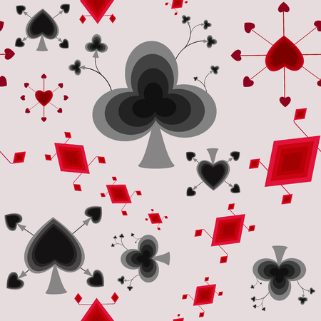 playing cards: Stylized playing cards seamless pattern Illustration