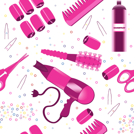 hairspray: Hairdressing accessories pattern