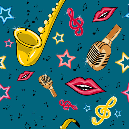 Musical and singing pattern Vector