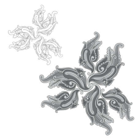 Ornament Black and Gray