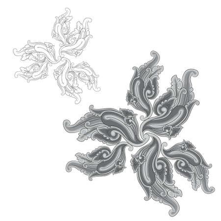 Ornament zwart en grijs