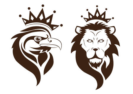 Eagle and Lion Vector