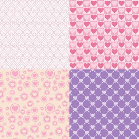Pattern romantic  Vector