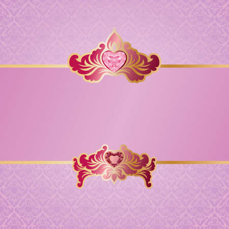 Valentine Ornament Background  Vector