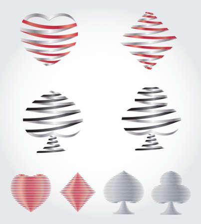 playing card symbols: Jugar S�mbolos de la tarjeta