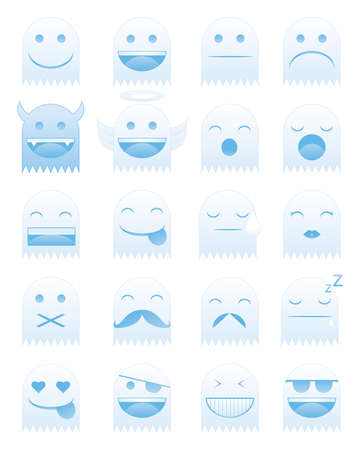 Emoticon Ghost Vector
