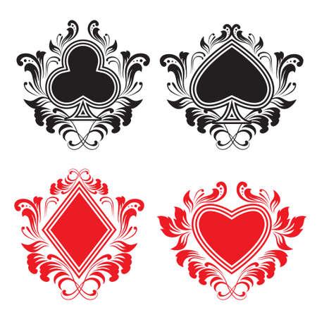 jeu de carte: Jouer Décoration de la carte