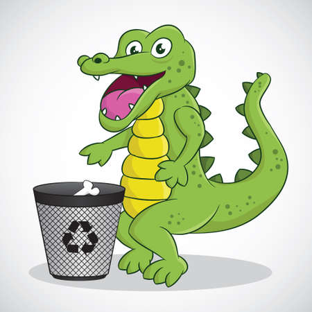 Recycle Crocodile  Vector