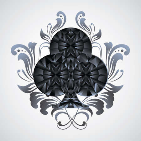 Ornament Clubs  Vector