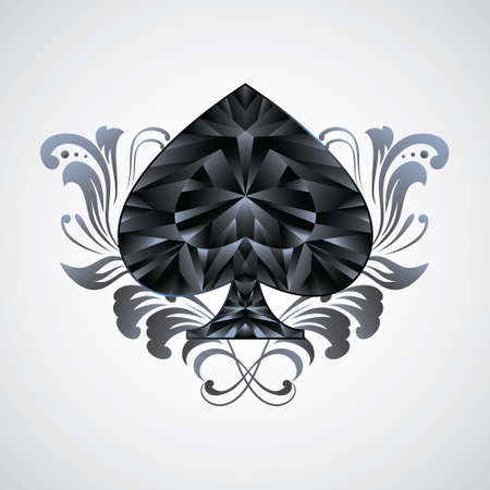 Ornament Spades  Vector