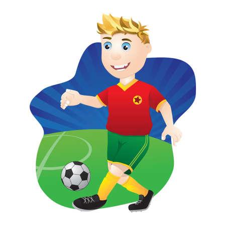 character traits: Playing Football Illustration