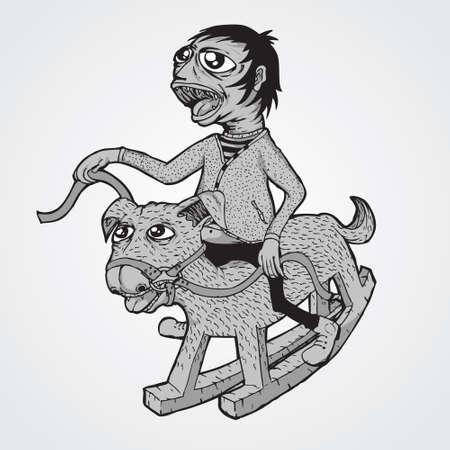 schommelpaard: Hobbelpaard Stock Illustratie
